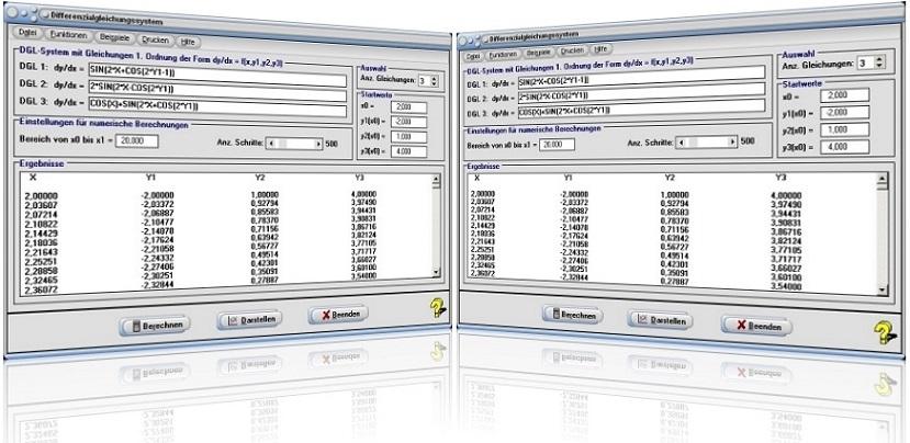 MathProf - DGL - System - Differentialgleichungssystem - Systeme - Differentialgleichungssysteme - Lösen - 1. Ordnung - Gleichungssystem - Graph - Rechner - Numerisch - Lösung - Plotter - Grafik - Grafisch - Lösen - Lösungen - Darstellung - Berechnung - Darstellen