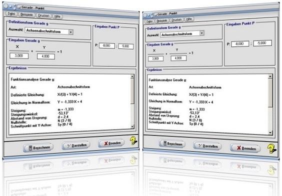 MathProf - Gerade - Punkt - Lotgerade - Lotfußpunkt - Lot - Lotlinie - Bestimmen - Lotfußpunktverfahren - Geraden - Punkte - Abstand - Distanz - Steigung - Steigungswinkel - Schnittpunkt - y-Achse - Nullstelle - Bild - Grafik - Darstellungsarten - Darstellungsformen - Zeichnen - Rechner - Berechnen - Plotten - Graph - Darstellung - Berechnung - Darstellen - Eigenschaften