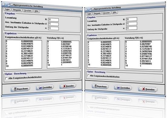 MathProf - Hypergeometrische Verteilung - Hypergeometrisch verteilt - Formel - Graph - Plotten - Parameter - Histogramm - Auswerten - Tabelle - Werte - Verteilungstabelle - Dichtetabelle - Darstellen - Dichte - Verteilung - Rechner - Berechnen