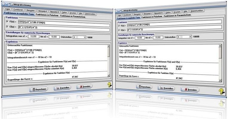 MathProf - Integral - Integralrechnung - Bestimmtes Integral - Bestimmen - Berechnen - Grafik - Zeichnen - Graph - Bilder - Plotter - Grafisch - Darstellung - Zeichnerisch - Rechnerisch - Lösung - Rechner - Absolute Fläche - Fläche - Kurven - Flächeninhalt - Flächenschwerpunkt - Plotten