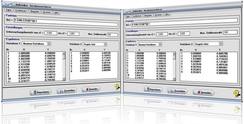 MathProf - Nullstellen - Methode - Verfahren - Algorithmus - Newton-Schema - Newton-Verfahren - Sekantenverfahren - Sekantenmethode - Newton-Methode - Bisektionsmethode - Newton-Iteration - Nullstellenberechnung - Tangentenverfahren - Tangentenmethode - Nullstellenrechner - Plotter - Graph - Plotten - Grafisch - Bild - Grafik - Tabelle - Beispiele - Rechner - Berechnen