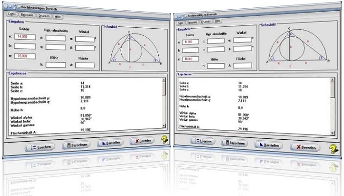 MathProf - Rechtwinkliges Dreieck - Formeln - Katheten - Hypotenuse - Ankathete - Gegenkathete - Umfang - Höhe - Fläche - Hypotenusenabschnitte - Seitenhalbierende - Schwerpunkt - Winkelhalbierende - Winkel - Seiten - Graph - Beispiel - Formel - Plot - Rechner - Berechnen - Zeichnen - Plotter - Darstellen - Eigenschaften