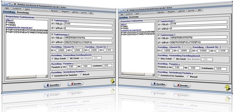 MathProf - Drehkörper - Rotierende Körper - Darstellung - Integralrechnung - Rotationskörper - Volumen - Rauminhalt - Mantelfläche - Parameterdarstellung - Rotationsvolumen - Grafik - 3D - Bogenlänge - Kurven - Integral - Rechner - Berechnen - Beispiel - Plotten - Grafik - Zeichnen - Darstellen - Darstellung - Y-Achse