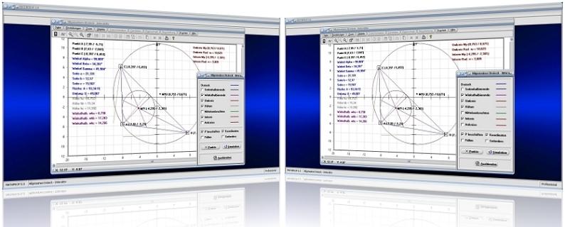 MathProf - Allgemeines Dreieck - Unregelmäßiges Dreieck - Unregelmäßige Dreiecke - Schiefwinkliges Dreieck - Stumpfwinkliges Dreieck - Spitzwinkliges Dreieck - Inkreismittelpunkt - Inkreisradius - Umkreismittelpunkt - Umkreisradius - Umfang - Umfangsberechnung - Flächeninhaltsberechnung - Seitenmitten - Grafisch - Rechner - Berechnen - Berechnung - Graph - Plot - Darstellen