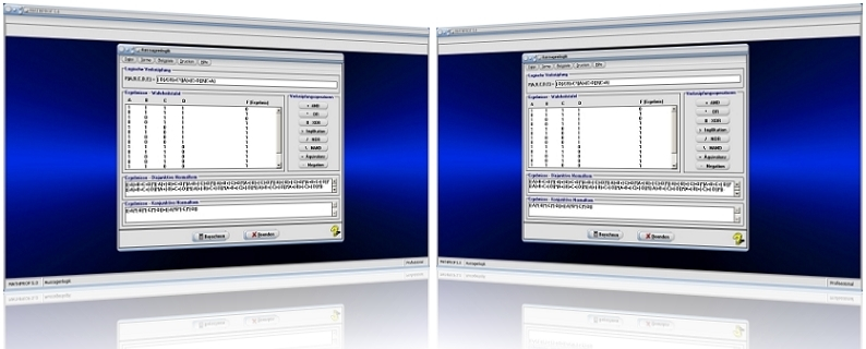 MathProf - Aussagenlogik - Tabelle - Wahrheitstafel - Wahrheitstabelle - Beispiel - Wertetabelle - Rechner - Berechnen - Verknüpfungen - Verknüpfungstabelle - Verknüpfungstafel - Verknüpfungsregeln - Wertetabelle - Wahrheitswerte - Wahrheit - Wahrheitsaussagen - Wahrheitswertetabelle - Bedingungen - Boolesche Funktionen - Boolesche Logik