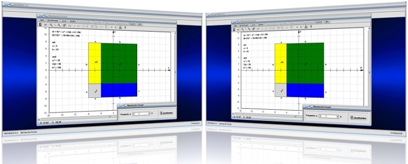 MathProf - Binomische Formel - Binomische Gleichung - Binomischer Lehrsatz - Binomische Formeln - Erste binomische Formel - Zweite binomische Formel - Bilder - Darstellung - Berechnen - Plotten - Plotter - Berechnung - Darstellen - Zeichnen - Graph - Grafisch - Lösen - Rechner - Zeichnung - Grafisch - Fläche