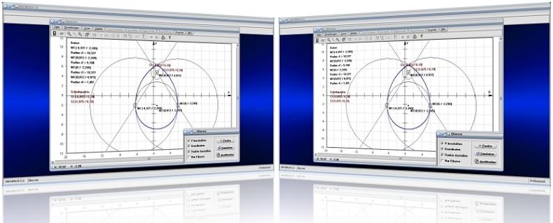 MathProf - Eikurven - Ovale - Ovale Kurve - Konstruktion - Konstruieren - Eiförmige Gebilde - Bild - Darstellen - Plotten - Graph - Rechner - Berechnen - Grafik - Zeichnen - Plotter