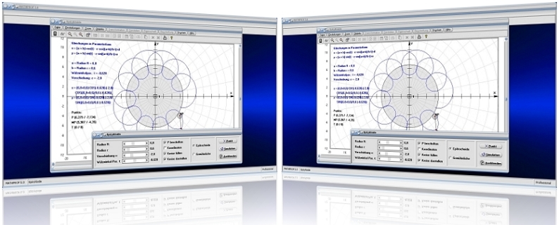 MathProf - Epizykloide - Epitrochoide - Parameter - Animation - Parameter - Winkel - Graph - Plotten - Grafisch - Plot - Eigenschaften - Darstellung - Berechnen - Berechnung - Rechner - Beispiel - Grafik - Zeichnen - Darstellen