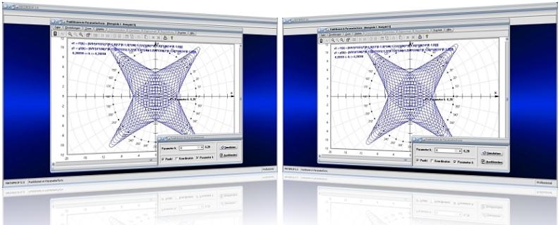 MathProf - Kurven - Parameterdarstellung - Parametrisierte Kurven - 1. Ableitung - Partielle Ableitung - 2D-Plot - Parametrisierung - Parametrische Kurve - Steigung - Tabelle - Werte - Bilder - Eigenschaften - Funktionswerte - Parameterwerte - Plotten - Ableiten - Ableitung - Wertetabelle - Plotten - Plot - Plotter - Rechner - Berechnen - Beispiel - Grafik - Graph - Graphen - Koordinaten - Zeichnen - Darstellung - Berechnung - Darstellen - Punkte