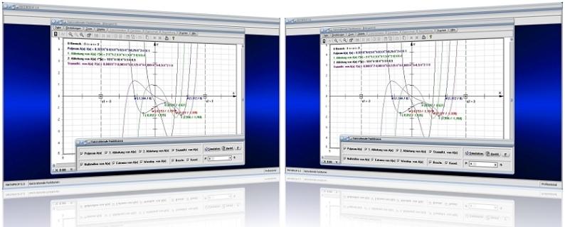 MathProf - Ganzrationale Funktionen - Polynome - Polynomfunktionen - Polynomgleichungen - Lineare Faktoren - Polynomdivision - Polynommultiplikation   - Polynomaddition - Produktdarstellung - Produktform - Graph - Darstellung - Berechnen - Rechner - Darstellen - Plotten - Eigenschaften - Linearfaktoren - Faktorzerlegung - Teiler - Vielfaches - Nullstellen