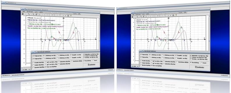 MathProf - Ganzrationale Funktionen - Polynome - Polynomfunktionen - Polynomiale Funktion - Polynomgleichungen - Nullstellen - Graph -   Eigenschaften - Darstellung - Berechnen - Rechner - Darstellen - Plotten - Polynomfunktionen - Plotter