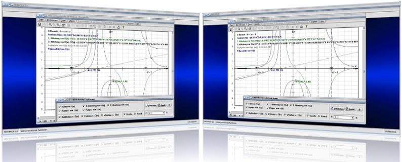 MathProf - Ganzrationale Funktionen - 3. Grades - 4. Grades - 5. Grades - 6. Grades - 7. Grades - Plotten - Koeffizienten - Quotient - Nullstellen - Bestimmen - Gleichung - 1. Ableitung - 2. Ableitung - Rechner - Berechnen - Beispiel - Grafik - Zeichnen - Darstellen - Darstellung - Grafisch - Addition - Polynom - Subtraktion - Multiplikation - Division
