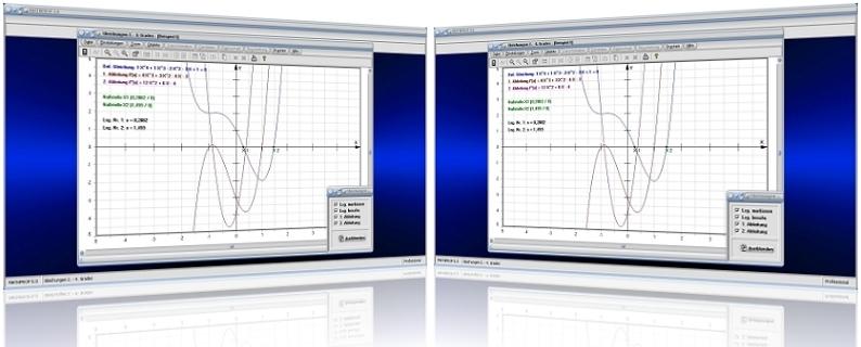 MathProf - Gleichungen - Gleichung - Polynom - 2. Grades - 3. Grades - 4. Grades - Polynome - 2. Grades - 3. Grades - 4. Grades - Biquadratische Gleichungen - Komplexe Lösungen - Rechner - Ableitung - Ableiten - Berechnen - Plotten - Darstellen - Graph - Plotten - Nullstellen
