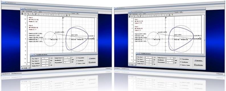 MathProf - Granville - Egg - Curve - Eierkurve - Granvillesches Ei - Ovals - Ovale - Kreis - Kurve - Eikurve - Eilinien - Konstruktion - Konstruieren - Bild - Darstellen - Plotten - Graph - Rechner - Berechnen - Grafik - Zeichnen - Plotter
