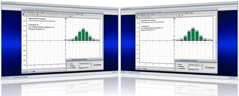 MathProf - Hypergeometrische Verteilung - Hypergeometrisch - Verteilung - Mindestens - Höchstens - Tabelle - Diagramm - Dichte - Verteilung - Histogramm - Erwartungswert - Rechner - Funktion - Beispiel - Berechnung - Darstellen - Diagramm - Auswerten - Tabelle - Werte - Verteilungstabelle - Dichtetabelle - Graph - Dichtefunktion