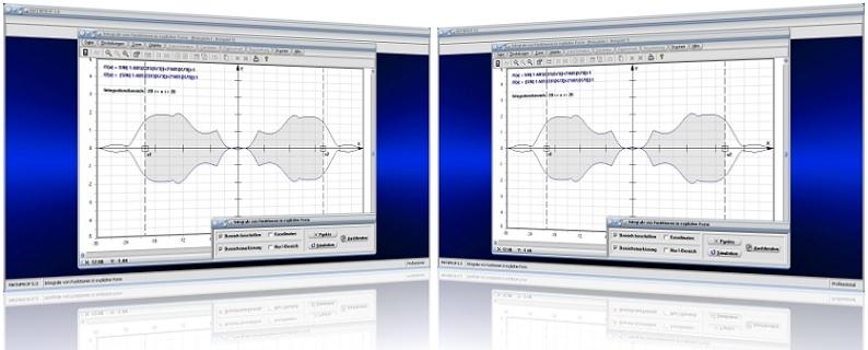 MathProf - Integral - Integrationsintervall - Integrale - Integrieren - Intervall - Orientierte Fläche - Absolute Fläche - Berechnen - Plotter - Beispiele - Plotter -   Rechner - Berechung - Darstellen - Grafisch - Flächeninhalt - Bestimmen - Integralwert - Fläche - Flächenintegral - Schwerpunkt