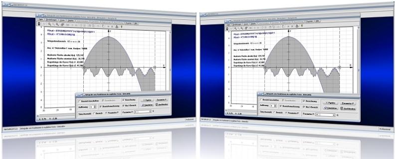MathProf - Integrale - Bestimmtes Integral - Integral bestimmen - Integral berechnen - Integralgrenze - Fläche unter Graph - Fläche unter Kurve - Absolute Fläche - Fläche - Rechner - Berechnen- Grafik - Zeichnen - Graph - Bilder - Plotter - Grafisch - Darstellung - Schwerpunkt