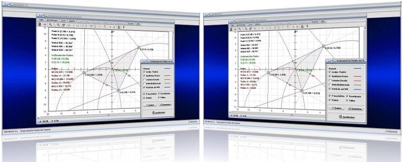 MathProf - Isodynamischer Punkt - Punkte - Isodynamisch - Dreieck - Winkelhalbierende - Lemoine - Gerade - Rechner - Grafik - Darstellung - Plotten - Definition - Graph - Berechnen - Berechnung - Darstellen