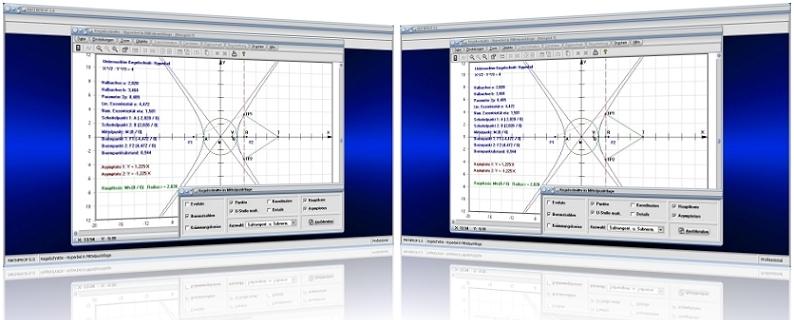 MathProf - Kegelschnitte - Kegelschnittkurven - Ellipsensegment - Ellipsenabschnitt - Halbellipse - Ellipsensektor - Ellipse - Segment - Abschnitt - Ausschnitt - Sektor -   Ellipsengleichung - Hyperbel - Parabel - Lineare Exzentrizität - Numerische Exzentrizität - Halbparameter - Bestimmen - Rechner - Zeichnen - Graph - Formel - Berechnen - Plotten - Plotter - Grafisch - Bild - Grafik