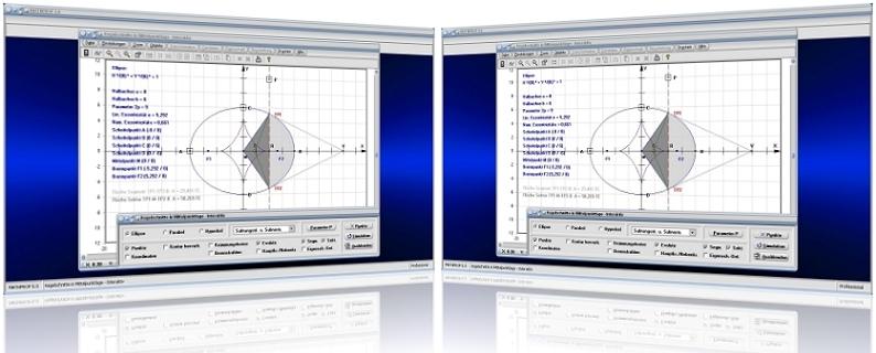 MathProf - Kurven 2. Ordnung - Berechnung - Brennpunkt - Halbachse - Parameter - Ellipse - Asymptote - Hyperbel - Scheitelpunkt - Parabel - Ellipsensegment - Ellipsenabschnitt - Ellipsensektor - Subtangente - Evolute - Krümmungskreis - Asymptoten - Formeln - Berechnen - Rechner - Plotten - Graph - Darstellen - Darstellung - Tangentenlänge