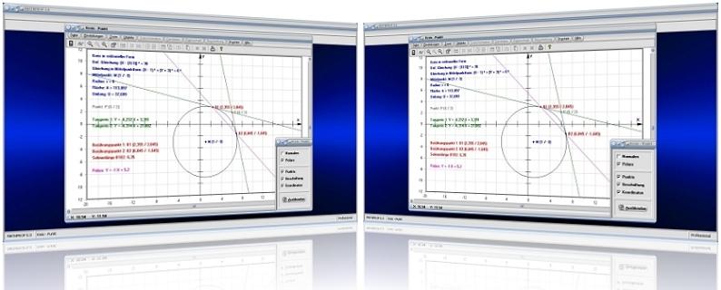 MathProf - Kreis - Punkt - Tangente - Normale - Polare - Berührungspunkt - Durchmesser - Umfang - Sehnenlänge - Kreisfläche - Lagebeziehung - Berührpunkt - Kreisquerschnitt - Berechnen - Mittelpunkt - Graph - Koordinaten - Grafisch - Bild - Sehnenlänge - Sehne - Grafik - Darstellung - Präsentation - Berechnung - Darstellen - Plotten - Plotter - Formel - Rechner - Bestimmen - Zeichnen - Graph - Grafik