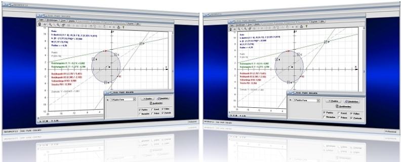 MathProf - Kreis - Punkt - Kreisradius - Kreisfläche - Berechnen - Fläche - Kreismittelpunkt - Kreis durch 3 Punkte - Mittelpunkt - Kreistangente - Winkel - Berührpunkt - Gleichung - Kreisgleichungen - Berührpunkt - Rechner - Berechnung - Darstellen - Plotten - Graph - Zentrum - Polare - Zentrale