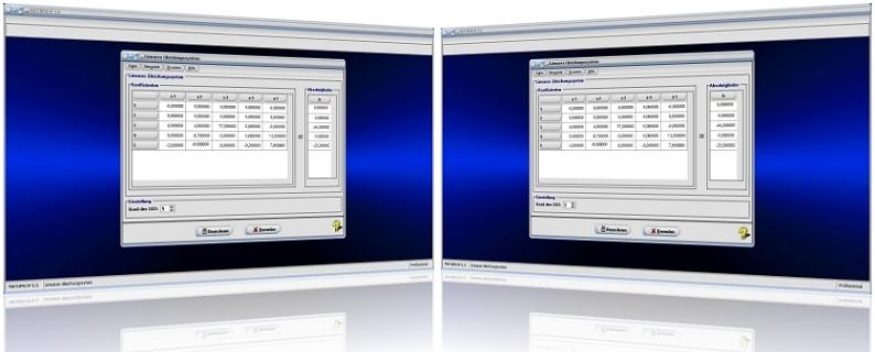 MathProf - LGS - Lineares Gleichungssystem - Lineare Gleichungssysteme - Lösen - Lösung - Berechnen - Rechner - Unbekannte - Beispiel - Bestimmen - Rechnerisch - Lösungsmenge - Unbekannte - Homogenes Gleichungssystem - Gauß-Verfahren