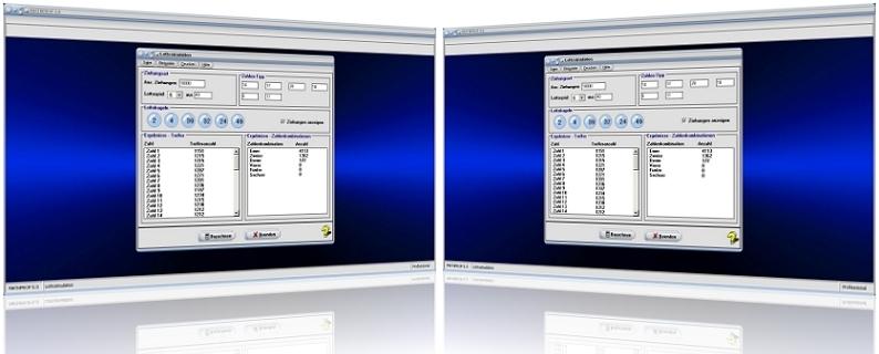 MathProf - Lotto - Simulator - Simulation - Ziehung - Zufallszahlen - Lottozahlen - Zahlenlotto - Zahlenkombinationen - Rechner - Zufall - Berechnen - Möglichkeiten - Kombinationen