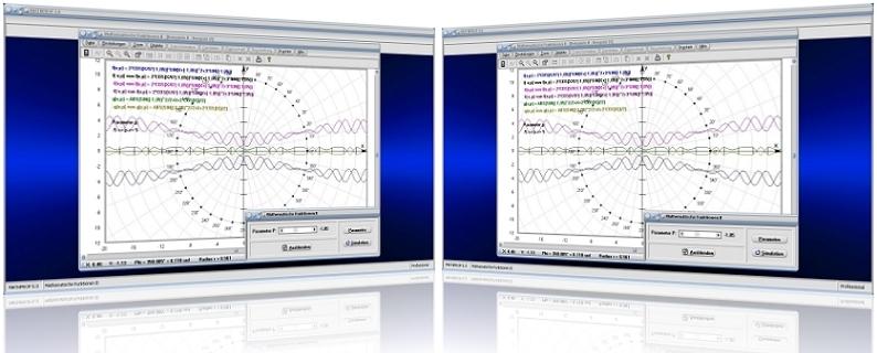 MathProf - Zwei Funktionen - Addieren - Verketten - Vergleichen - Subtrahieren - Multiplizieren - Umkehrfunktion - Evolute - Funktionsgraph - Grafisch - Graph - Beispiel - Ableitung - Ableitungsfunktion - Ableitungsgraph - Funktionsverkettung - Funktionsverknüpfung - Funktionsverlauf - Plotter - Darstellen - Darstellung - Grafik