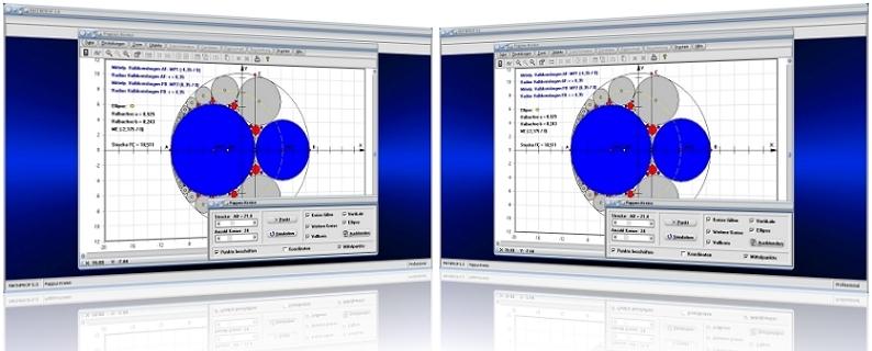 MathProf - Pappos-Kreise - Pappus-Ketten - Kreise im Kreis - Pappus - Problem - Halbkreisbogen - Graph - Grafisch - Plotter - Halbkreis - Darstellung - Berechnung - Darstellen - Rechner - Kreis