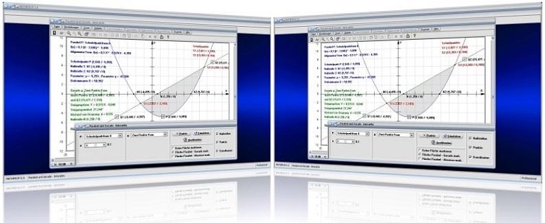 MathProf - Parabel - Gerade - Parabelgleichung - Quadratische Funktion - Lineare Funktion - Schnittpunkte - Nullstellen - Diskriminante - Scheitelpunkt - Darstellung - Berechnen - Darstellen - Rechner - Beispiel - Plotter - Grafik - Plotten - Zeichnen - Graph - Schnittpunkt - Berührpunkt - Parabelsegment