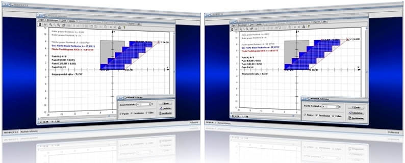 MathProf - Scherung - Scheren - Rechteck - Cavallieri-Prinzip - Cavalierisches Prinzip - Geometrie - Berechnen - Graph - Darstellen - Darstellung - Fläche