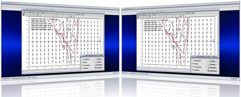 MathProf - Richtungsfelder - DGL - Differentialgleichung - Richtungsfeld - Differentialgleichung 1. Ordnung - Isoklinen - Lösungskurven - Skizzieren - Lösungskurve - Grafisch - Rechner - Graph - Bilder - Darstellung - Plotter - Berechnung - Darstellen - Plotten - Grafik - Zeichnen