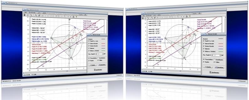 MathProf - Simson-Gerade - Steiner-Gerade - Steinersche Gerade - Dreieck - Konstruktion - Konstruieren - Berechnen - Graph - Grafisch - Bild - Rechner - Erklärung - Beschreibung - Definition - Grafik - Darstellung - Zeichnen - Eigenschaften - Berechnung - Darstellen