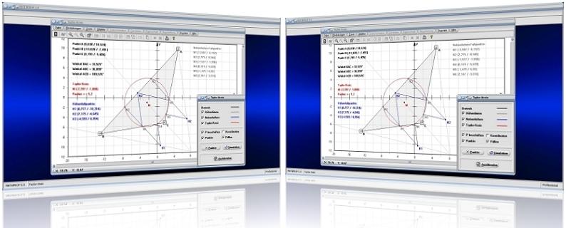 MathProf - Taylor-Kreis - Konstruktion - Konstruieren - Dreieckskonstruktion - Nebenhöhen - Höhen - Fußpunkte - Höhenfußpunkte - Berechnen - Erklärung - Beschreibung - Definition - Graph - Grafisch - Plotter - Zeichnen - Eigenschaften - Bild - Rechner - Grafik - Darstellung - Berechnung - Darstellen