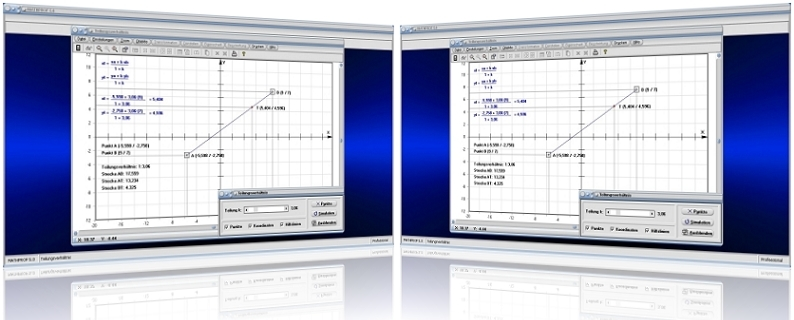 MathProf - Streckenteilung - Strecke - Teilung - Teilen - Teil - Abschnitt - Verhältnis - Teilungspunkt - Teilpunkt - Teilungsverhältnis - Teilverhältnis - Länge - Berechnen -   Bestimmen - Formel - Darstellung - Berechnung - Darstellen - Rechner - Plotten - Graph - Teilungspunkt