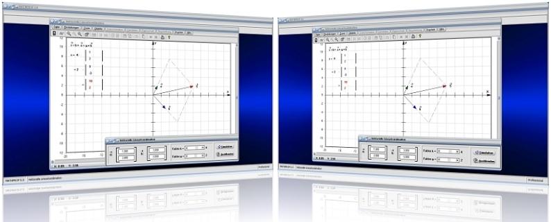 MathProf - Linearkombination - Vektoren - Skalar - Lineare Kombinationen - Skalarmultiplikation - Grafik - Ortsvektoren - Graph - Skalar - Parameter - Zeichnen - Rechner - Berechnen - Grafisch - Bilder - Darstellung - Berechnung - Darstellen
