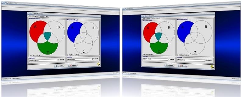 MathProf - Venn Diagramme - Venn Diagramm - Mengen - Mengendiagramm - Operatoren - Mengenoperation - Schnittmenge - Elemente - Grundmenge - Differenzmenge - Durchschnittsmenge - Plotter - Graph - Grafisch - Bild - Grafik - Rechner - Darstellung - Beispiele - Berechnen - Darstellen - Auswertung - Auswerten - Multiplizieren - Addieren - Vereinigen - Komplementmenge - Komplement - Mengenvereinigung - Teilmengen
