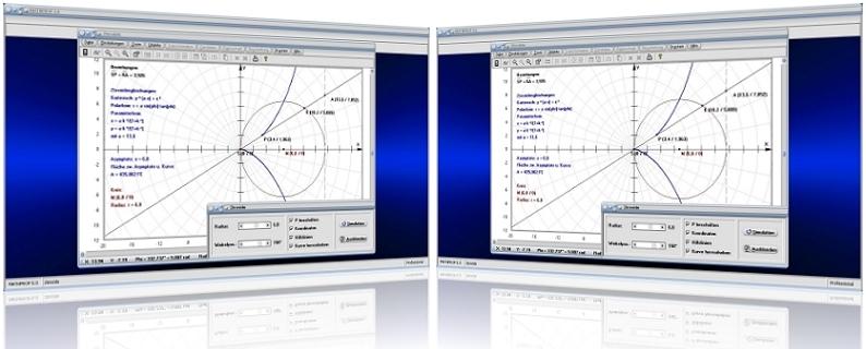 MathProf - Zissoide - Efeu-Kurve - Diokles - Algebraische Kurven - Asymptote - Gleichung - Fläche - Graph - Eigenschaften - Plotten - Grafisch - Bilder -   Darstellung - Berechnen - Berechnung - Rechner - Beispiel - Grafik - Zeichnen - Darstellen
