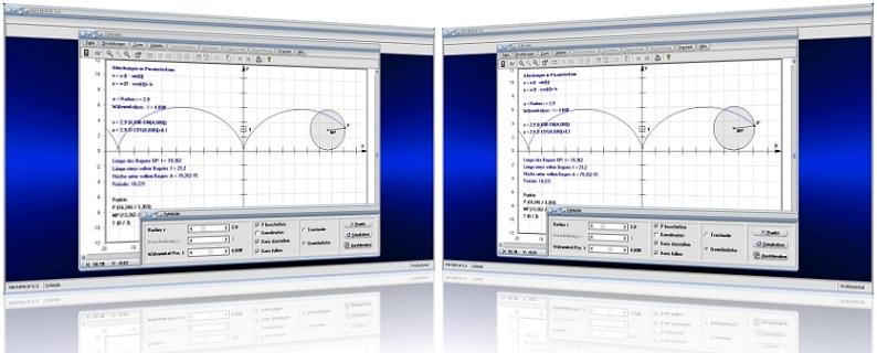 MathProf - Zykloide - Trochoide - Berechnen - Bahnkurve - Bogenlänge - Länge - Winkel - Periode - Formel - Simulation - Gleichung - Kurve - Graph - Plotten - Grafisch - Plotter - Rechner - Berechnen - Eigenschaften - Grafik - Zeichnen - Grafik - Darstellung - Berechnung - Darstellen