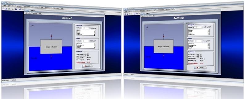 PhysProf - Auftrieb - Kraft - Auftriebskraft - Hydrostatisch - Archimedisches Prinzip - Archimedisches Gesetz - Schwebezustand - Statischer Auftrieb - Statische Auftriebskraft - Berechnung - Darstellung - Berechnen - Körper - Grafik - Gleichung - Formel - Einheit - Druck - Steigen - Schwimmen - Schweben - Sinken - Volumen - Volumen - Dichte - Wichte - Schwerkraft - Rechner - Grafik