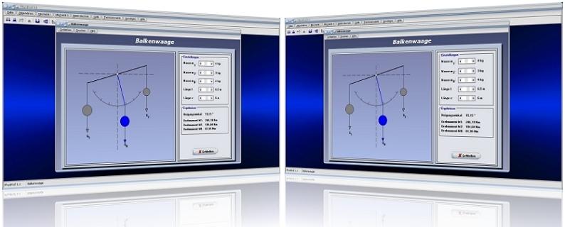 PhysProf - Balkenwaage - Waage - Hebelwaage - Waage - Masse - Drehmoment - Winkel - Schwerpunkt - Drehpunkt - Drehwinkel - Lastarm - Neigungswinkel- Kraft - Kräfte - Rechner - Animation - Formel - Gleichung - Berechnen - Grafisch - Berechnung - Darstellen - Hebel