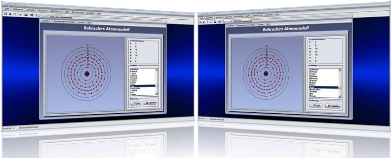 PhysProf - Bohrsches Modell - Atome - Atomaufbau - Atombau - Elemente - Chemische Elemente - Elektronen - Elektronenbahnen - Energie - Atomkern - Schalenmodell - Ordnungszahl - Elektronenschalen - Außenelektronen - Valenzelektronen - K-Schale - L-Schale - M-Schale - N-Schale - O-Schale - P-Schale - Q-Schale