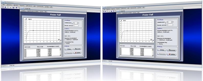 PhysProf -Freier Fall - Freier Fall - Luftwiderstand - Fallgeschwindigkeit - Berechnen - Grafik - Gleichung - Berechnung - Darstellen - Weg - Bewegungsgleichung - Luftdichte - Masse - Schwerkraft - Fallzeit - Rechner - Darstellen - Grfik - Grafisch - Diagramm - Tabelle - Zeit - Dauer - Höhe - Beschleunigung - Erdanziehungskraft - Schwerkraft - Fallbeschleunigung - Luftwiderstandsbeiwert - Widerstandsbeiwert