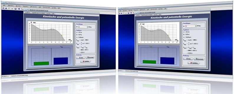 PhysProf - Bewegungsenergie - Energie - Kinetische Energie - Potentielle Energie - Höhenenergie - Mechanische Energie - Lageenergie - Simulation - Verändern - Veränderung - Ändern - Berechnung - Darstellen - Grafische Darstellung - Arbeit - Masse - mgh - Formeln - Gleichungt - Diagramm - Berechnen - Beispiel - Rechner - Naturwissenschaftliche Gesetzmäßigkeiten