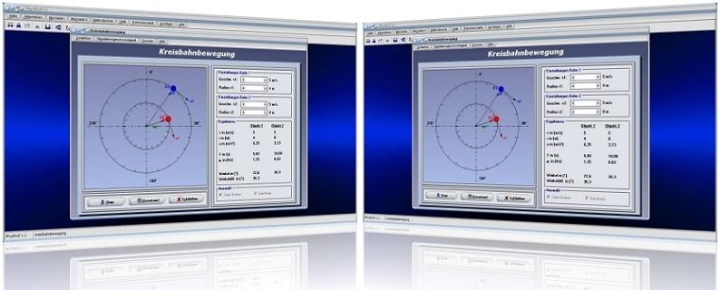 PhysProf - Drehbewegung - Rotation - Dauer - Periode - Umdrehung - Drehgeschwindigkeit - Frequenz - Radius - Drehwinkel - Winkel - Winkelgeschwindigkeit - Umlaufzeit - Umlaufdauer - Umdrehungsgeschwindigkeit - Umdrehungszahl - Umdrehungen - Berechnen - Beispiel - Rechner - Zeit - Weg - Gleichung - Kreisfrequenz - Kreisgeschwindigkeit - Darstellen