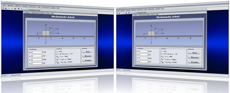 PhysProf - Kraft - Arbeit - Mechanik - Reibung - Weg - Gewichtskraft - Gravitationskraft - Reibungskraft - Reibungsarbeit - Mechanische Leistung - Energie - Formel - Grafik - Simulation - Berechnen - Beispiel - Darstellen - Darstellung - Rechner