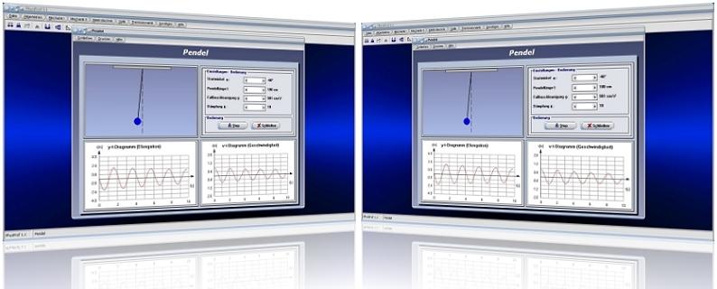 PhysProf - Pendel - Fadenpendel - Auslenkung - Pendellänge - Pendelfrequenz - Pendelversuch - Auslenkung - Formel - Winkel - Zeit - Berechnen - Diagramm - Grafik - Berechnung - Darstellen - Grafisch - Elongation - Schwingung - Schwingungsfrequenz - Schwingungsdauer - Animation