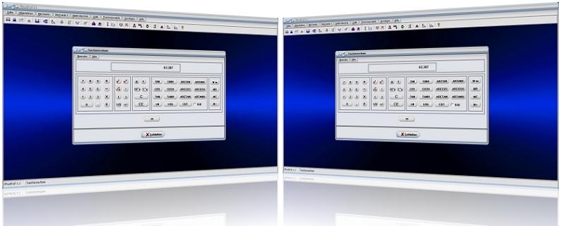 PhysProf - Taschenrechner - Berechnen - Sinus - Cosinus - Bogenmaß - Hochzahlen - Logarithmus - Komma