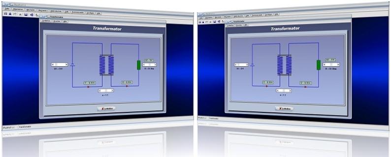 PhysProf - Transformator -  Spule - Strom - Primärspule - Sekundärspule - Primärseite - Sekundärseite - Stromstärke - Spannung - Formeln - Primärstrom - Sekundärstrom - Widerstand - Windungsverhältnis - Funktion - Rechner - Bild - Berechnen - Grafik - Berechnung - Primärspannung - Sekundärspannung - Windungen - Windungszahl